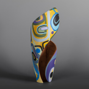 "Abundance Steve Smith – Dla'kwagila Oweekeno Turned maple, paint 15"" x 6"" x 6"" $3600"