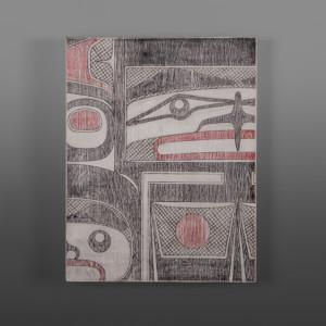 """T-Bird Clinton Work Kwakwaka'wakw Birch panel, paint 14"""" x 11"""" $500"""