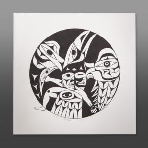 "Your Balance Tim Paul Nuu-Chah-Nulth Serigraph 22"" x 22"" $225"