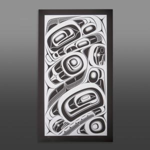 """Łagigyet Phil Gray Tsimshian Serigraph 29"""" x 17"""" $325"""