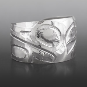 Split Herons Alvin Adkins Haida Silver $1000