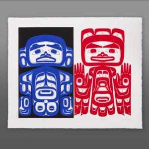 Decaf/Regular Alison Marks Tlingit Serigraph
