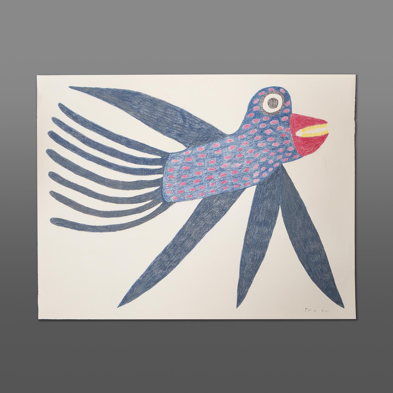 "Imagination  Meelia Kelly Inuit Color pencil, ink on paper 26"" x 20"" 600CAD"