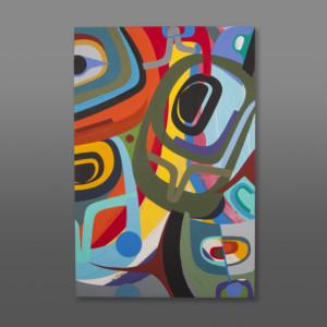 """Within the Rainbow Steve Smith - Dla'kwagila Acrylic on canvas 36"""" x 24"""" $4500"""
