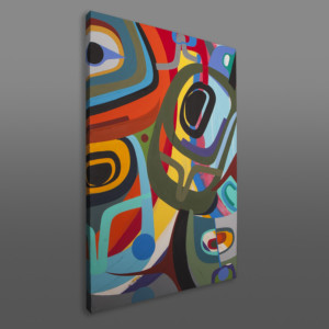 "Within the Rainbow Steve Smith – Dla'kwagila  Oweekeno Acrylic on Canvas 36"" x 24"" $4500"