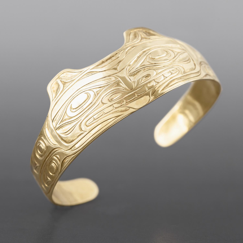 Wolf Bracelet Joe Wilson Kwakwaka'wakw Brass $400