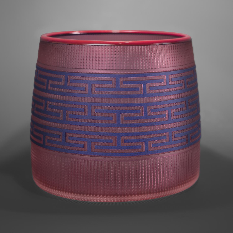 Pink & Cobalt Basket Preston Singletary