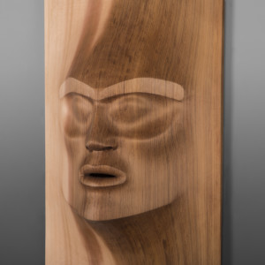 "Piercing the Veil Klatle Bhi Kwakwaka'wakw Red cedar 36"" x 12"" x 6"" $11500"