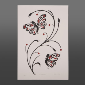 Butterflies Carol Young Bagshaw Haida Serigraph