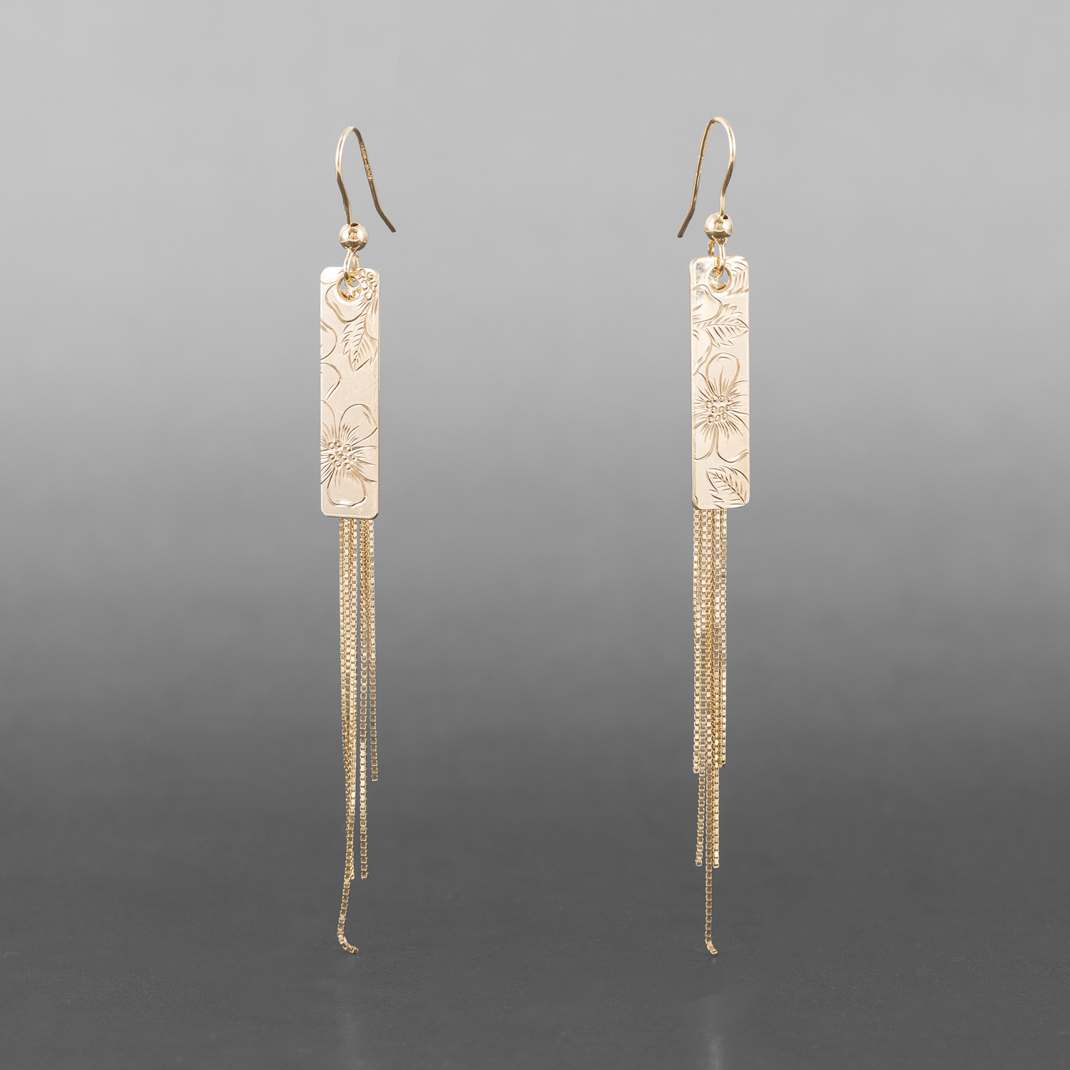 "Wildrose Tassel Earrings Jennifer Younger Tlingit 14k gold "" $875"
