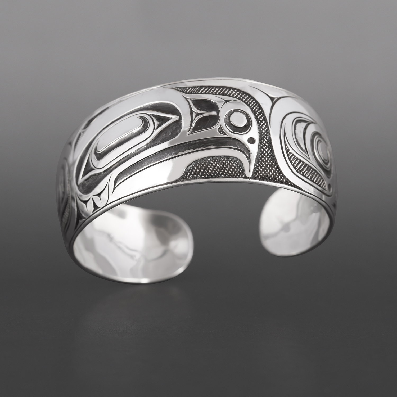 Haida Eagle Bracelet Ernest Swanson Haida Silver $1200