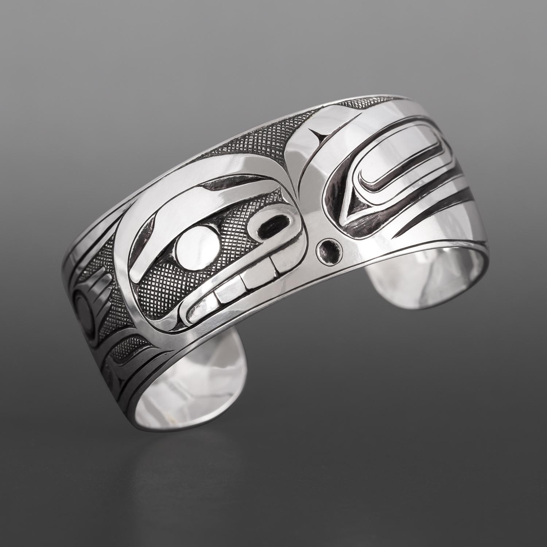 Raven & Human Bracelet Ernest Swanson Haida Silver $1200