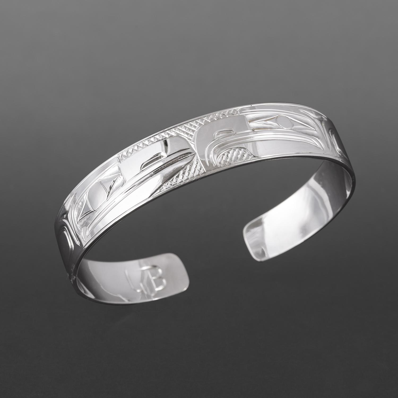 Lovebirds Bracelet Bill Bedard Haida Silver $400