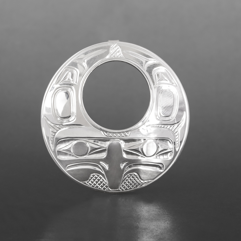 Eagle Pendant Bill Bedard Haida Silver $395