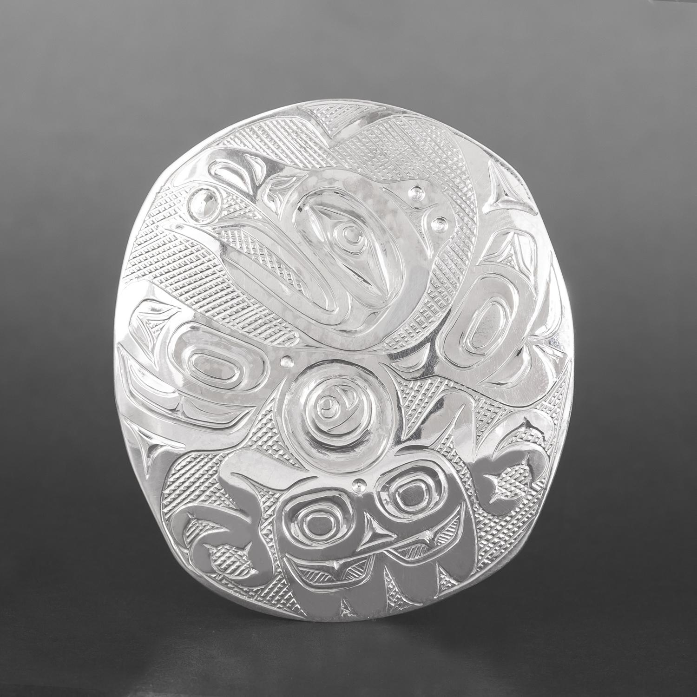 Raven & Light Pendant Kelvin Thompson Haisla Silver  $495