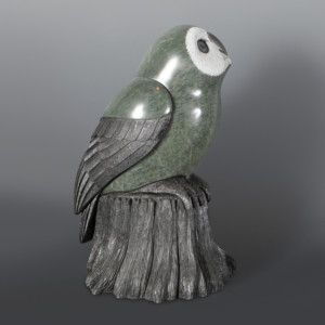 Midnight Perch Owl Cyril Henry Soapstone Sculpture