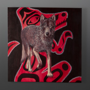 Wolves Jean Taylor Tlingit contemporary painting