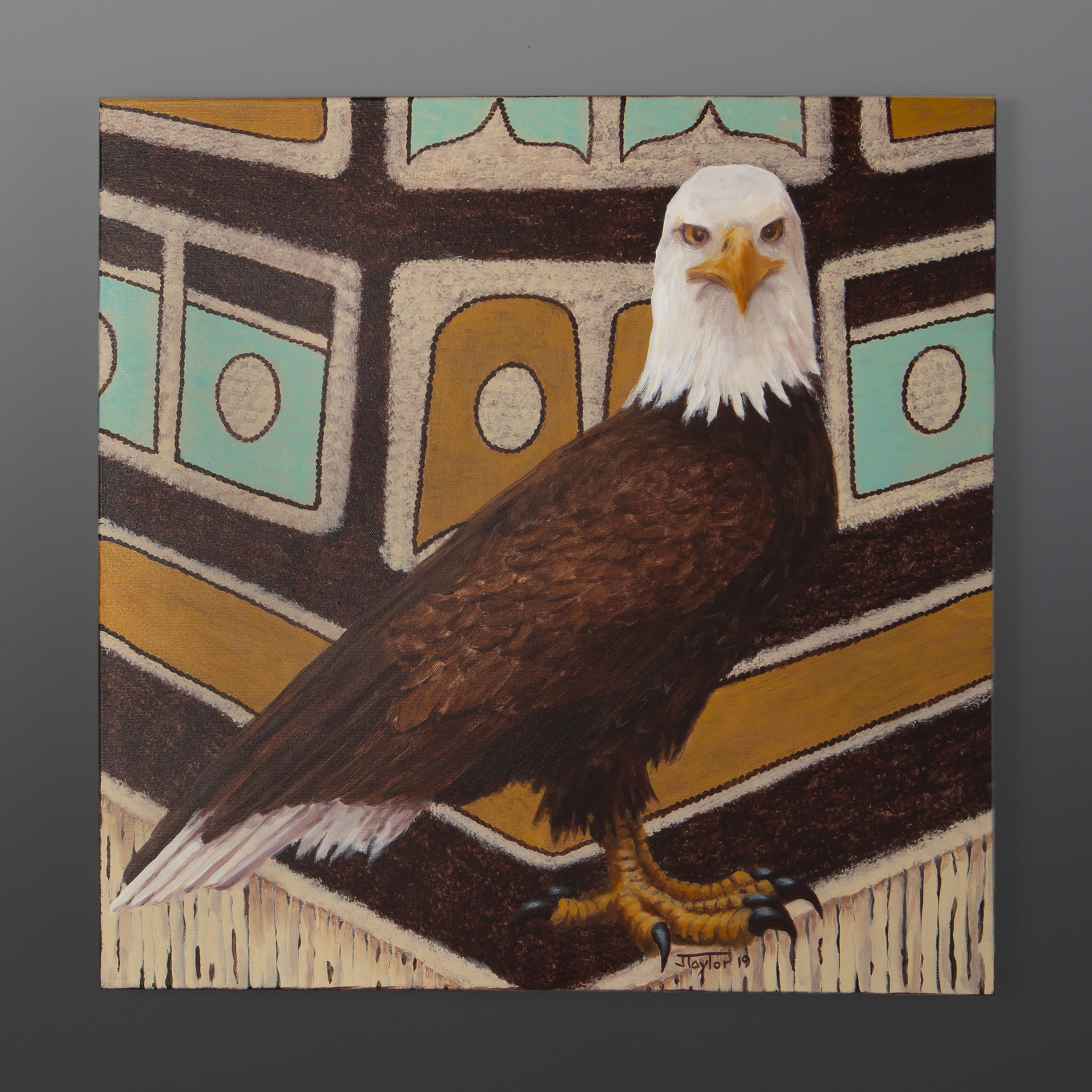 Eagle Jean Taylor Tlingit contemporary painting