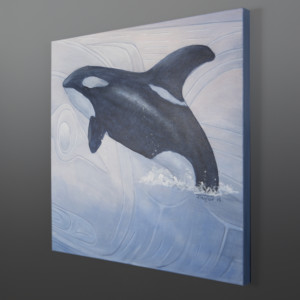 Orca Jean Taylor Tlingit contemporary painting