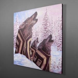 A Song at Dusk Jean Taylor Tlingit Wolves painting