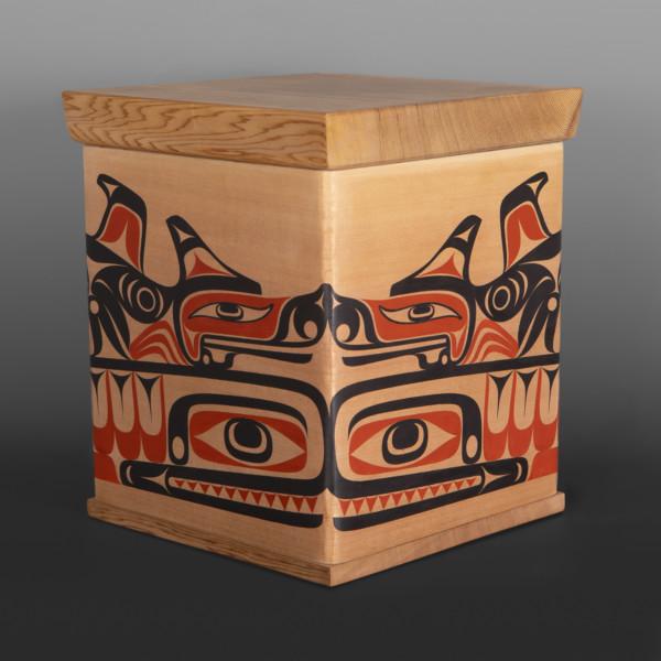 bentwood box Thunderbird & Seawolf Nytom Makah