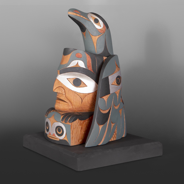 Raven as the First Man Tim Paul Northwest coast sculpture