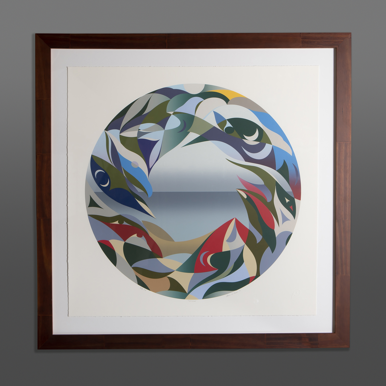 The Edge Susan Point Coast Salish round print