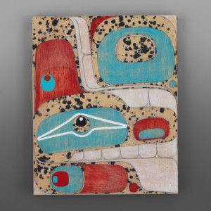 Clinton Work Kwakwaka'wakw Acrylic on birch panel painting