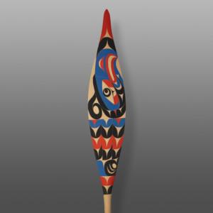 "Thunderbird Paddle Tim Paul, RCA Nuu-chah-nulth Red cedar, paint 64"" x 7"" x 1½"" $3600"