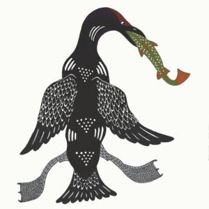 Triumphant Loon Quvianaqtuk Pudlat Inuit Stonecut Cape Dorset Print Collection 2020