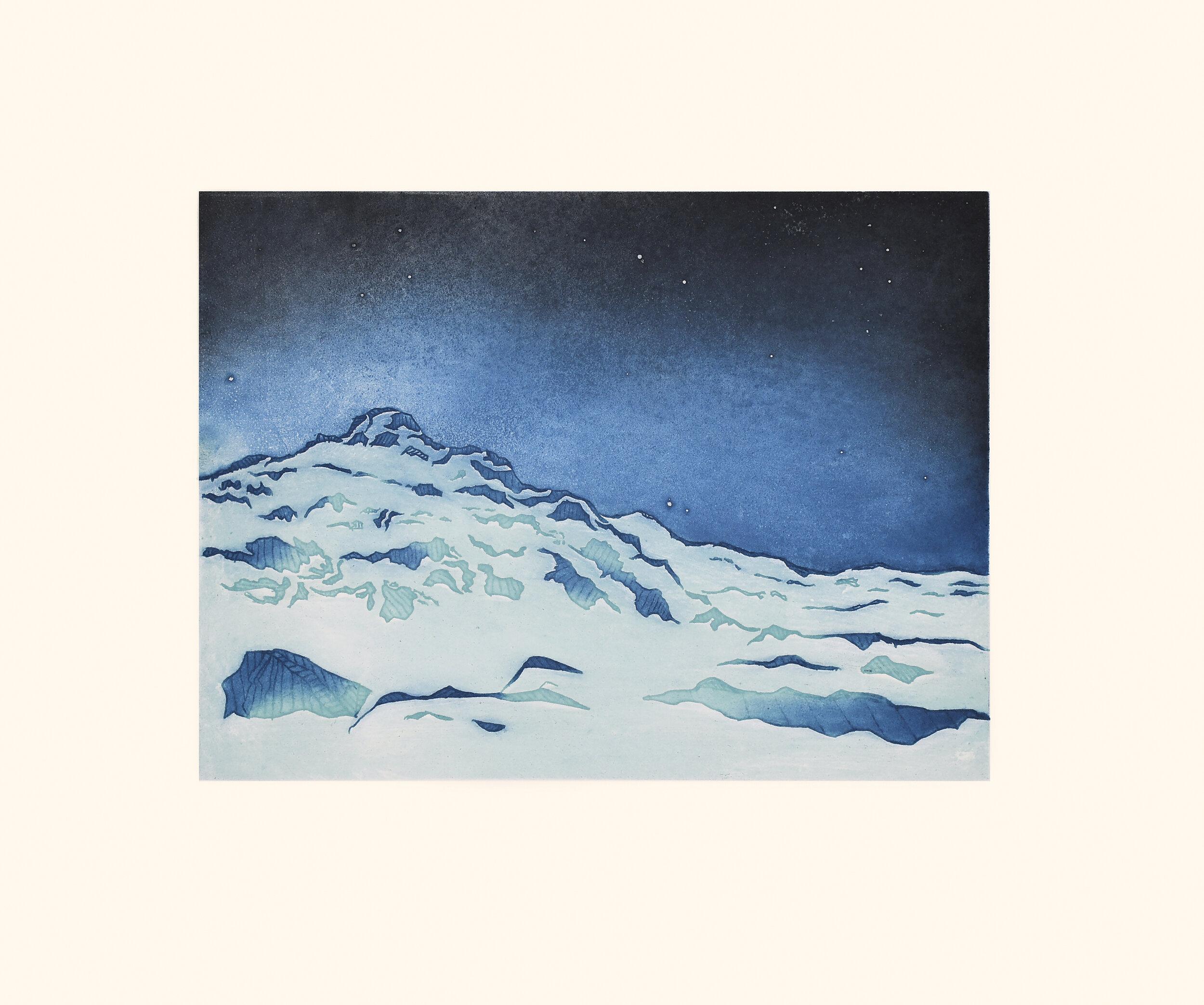 Silaqituq (Bright Evening) Nicotye Samayualie Inuit Etching & Aquatint Cape Dorset Print Collection 2020