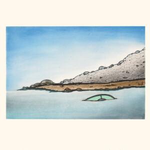 Shoreline Mystery Nicotye Samayualie Inuit Etching & Aquatint Cape Dorset Print Collection 2020