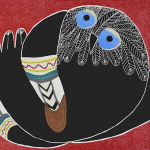 Stepping Out Ningiukulu Teevee Inuit Lithograph Cape Dorset Print Collection 2020