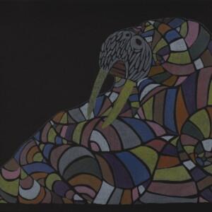 Cozy Walrus Ningiukulu Teevee Inuit Lithograph Cape Dorset Print Collection 2020