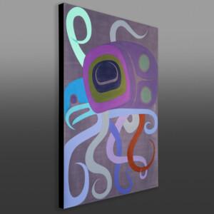 "Pacific Octopus Steve Smith - Dla'kwagila Oweekeno Acrylic on birch panel 30"" x 40"" x 1½"" $4200"