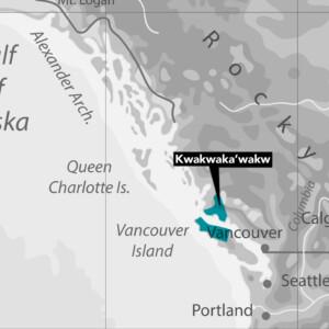 Kwakwaka'wakw Nation Map