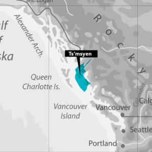 Ts'msyen Tsimshian Nation Map
