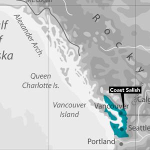 Coast Salish Nation Map
