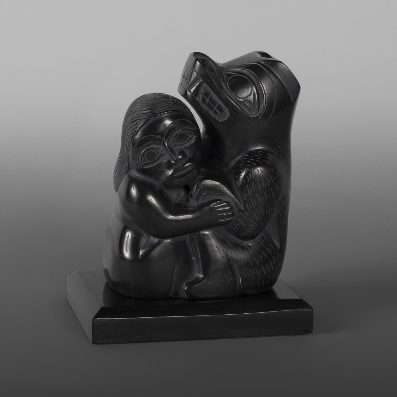 """Bear Mother Greg White Lightbown Haida Argillite 3¾"""" x 2¾"""" x 2¼"""" $1800"""
