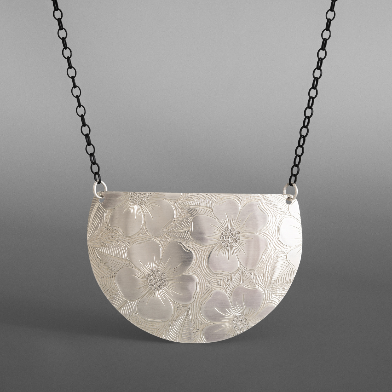 Wildrose Demilune Necklace Jennifer Younger Tlingit Silver