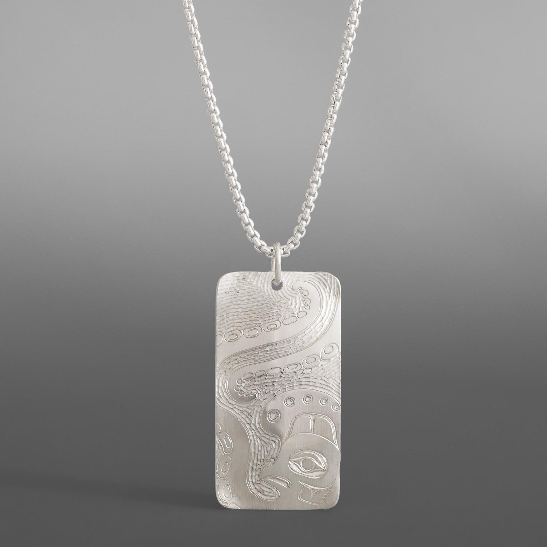 Devilfish Pendant Jennifer Younger Tlingit Silver