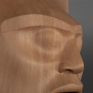 """Letting Go"" (Piercing the Veil) Klathle-bhi Kwakwaka'wakw Red cedar 24½"" x 13½"" x 8"" $11,500"