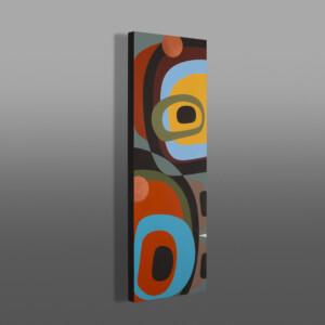 """An Autumn Day I Steve Smith - Dla'kwagila Oweekeno Acrylic on birch panel 12"""" x 36"""" $1600"""
