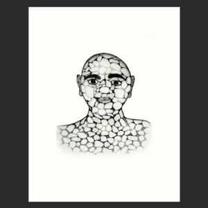 PADLOO SAMAYUALIE Pebble Man Etching & Aquatint