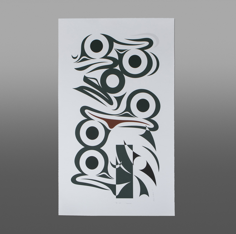 "Changes Susan Point, RCA Coast Salish Serigraph, P/P I/II 33"" x 20"" $1850"