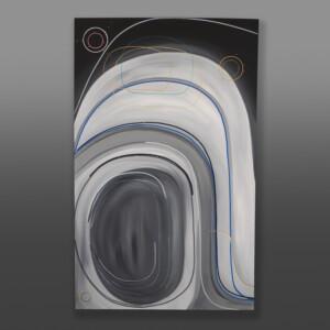 """Inner Ovoid, Outer Space Steve Smith - Dla'kwagila Oweekeno Acrylic on canvas 48"""" x 30"""" x 1½"""" $5000"""