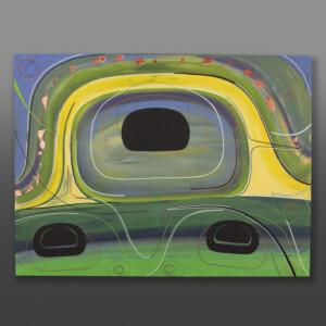 "Renewal Steve Smith - Dla'kwagila Oweekeno Acrylic on canvas 36"" x 48"" x 1½"" $6000"