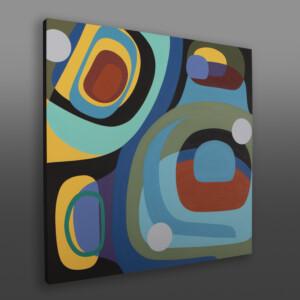 "Summer Day Steve Smith - Dla'kwagila Oweekeno Acrylic on birch panel 30"" x 30"" x 1½"" $3800"