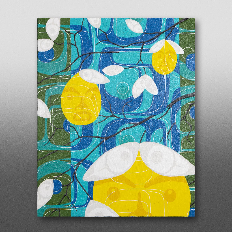 "Soul MatesClinton Work Kwakwaka'wakwAcrylic on birch panel 24"" x 30"" x 1½"" $2800"