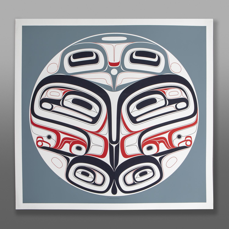 "Metamorphosis  (Butterfly) Clifton Guthrie Tsimshian Serigraph 30"" x 30"" $350"